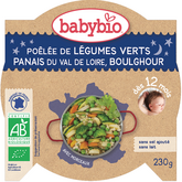 Babybio légumes verts panais boulghour 230g dès 12 mois