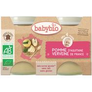 Babybio pot pommes 2x130g dès 4 mois