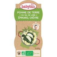 Babybio pommes de terre épinards chèvre 2x200g dès8mois