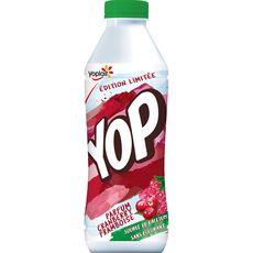 YOP YOP Yaourt à boire à la framboise et cranberry 825g 825g
