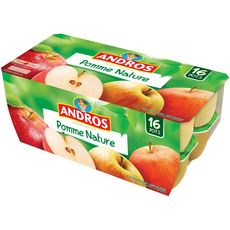 Andros compote de pommes nature 16x100g