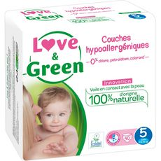 Love & Green Couches écologiques taille 5 (12-25kg) x40