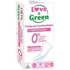 Love And Green Protège-slips écologiques hypoallergéniques normal x30