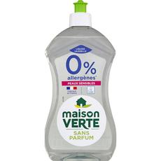 MAISON VERTE Liquide vaisselle écologique sans parfum peaux sensibles 500ml