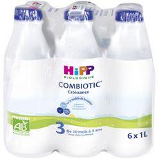 Hipp croissance bio bouteille 6x1l dès 10 mois