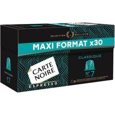 CARTE NOIRE Capsules de café espresso classique maxi format compatibles Nespresso 30 capsules 159g