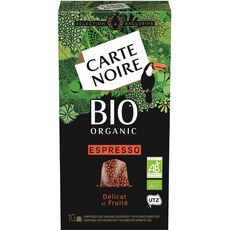 Carte Noire Capsules de café bio compatibles Nespresso X10-53g