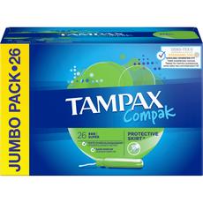 TAMPAX Compak Tampons avec applicateur super 26 pièces