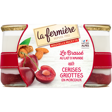 La Fermière yaourt plaisir à la cerise 2x160g