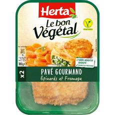 Herta Le Bon Végétal pavé épinard fromage x2 -180g