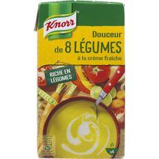 Knorr soupe liquide 8 légumes crème fraîche 1l