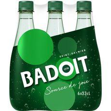 Badoit BADOIT Eau minérale gazeuse verte finement pétillante bouteilles
