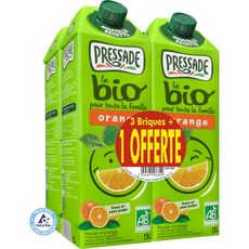 Pressade bio nectar d'orange 3x1,5l +1offerte