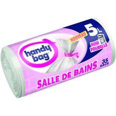 HANDY BAG Sacs poubelle salle de bain liens détachables 5l 35 sacs
