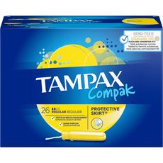 TAMPAX Compak tampons avec applicateur regular 26 tampons