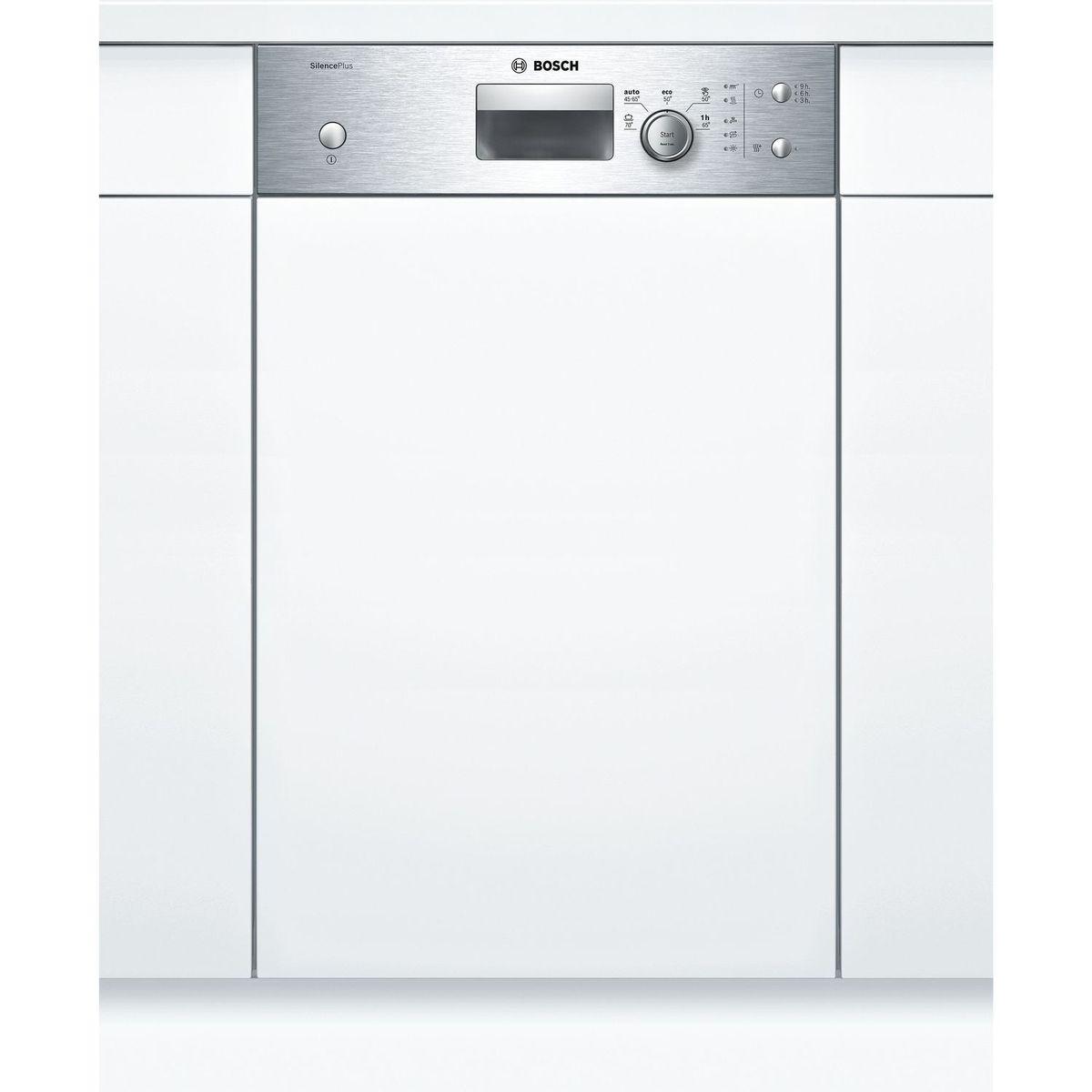 Lave-vaisselle semi-encastrable SPI25CS00E, 9 couverts, 45 cm, 48 dB, 5 programmes