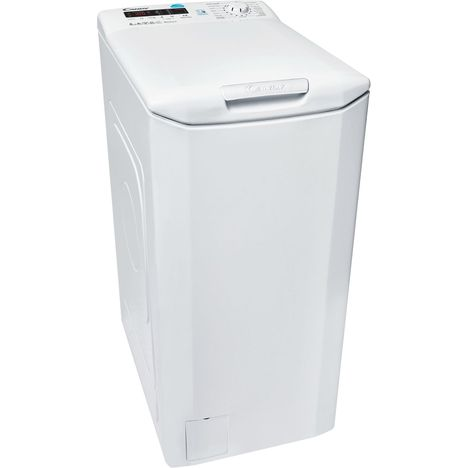 CANDY Lave linge top CST380D-47, 8 Kg, 1000 T/min, connecté