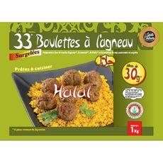 GOUTS & COULEURS boulettes d'agneau halal 33 boulettes sachet 1kg