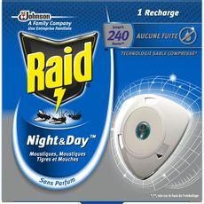 RAID Night & Day recharge pour diffuseur électrique anti-moustiques & mouches 1 recharge