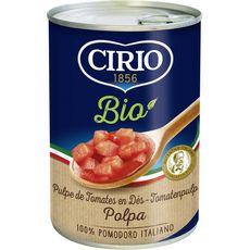 CIRIO Cirio pulpe de tomate bio en dés 400g