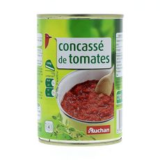 AUCHAN Auchan concassé de tomates boîte 1/2 400g