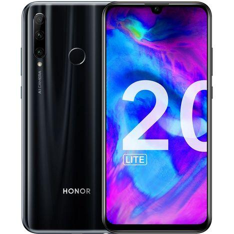 HONOR Smartphone - 20 LITE - 128 Go - Noir - 6.21 pouces - 4G - Double Nano Sim ou MicroSD
