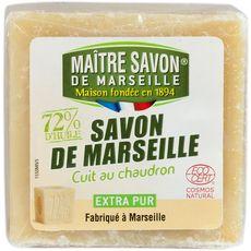 MAITRE SAVON Savon de Marseille écologique cuit au chaudron 300g