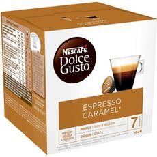 DOLCE GUSTO Capsules de café espresso caramel 16 capsules 83g