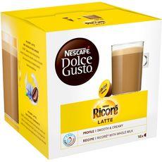 DOLCE GUSTO Capsules de ricoré latte 16 capsules 168g