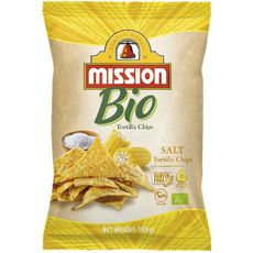 Mission bio tortilla chips 125g
