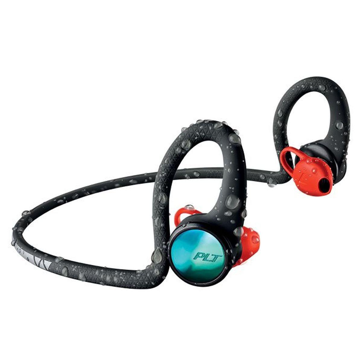 Ecouteurs BACKBEAT FIT 2100 - Noir/bleu/rouge