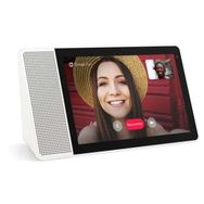 LENOVO Assistant vocal SMART DISPLAY - 10 pouces - Blanc/Bambou