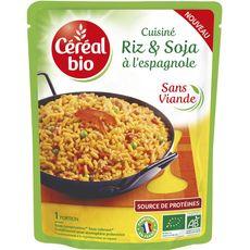 Céréal Bio CEREAL BIO Riz et soja à l'espagnole sans viande en poche sans conservateur