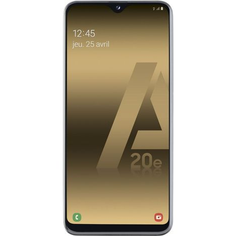 SAMSUNG Smartphone - GALAXY A20e - 32 Go - 5.8 pouces - Blanc - 4G - Double port Nano SIM