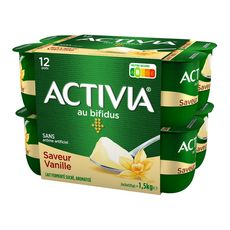 ACTIVIA Yaourt bifidus vanille 12x125g
