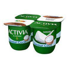 ACTIVIA Yaourt bifidus saveur coco 4x125g