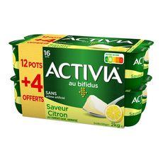 ACTIVIA Yaourt bifidus saveur citron 16x125g