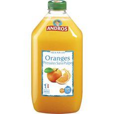 Andros Pur jus d'oranges pressées sans pulpe 1,5L