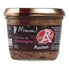 Gourmet AUCHAN MMM! Terrine de campagne Label Rouge