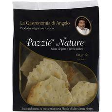 LA GASTRONOMIA DI ANGELO Pazzié nature éclats de pâte à pizza séchée 150g