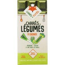 CARRES FUTES Carrés à cuisiner poireau et céleri 100% naturel sans additif ni sel ajouté 18 carrés 80g