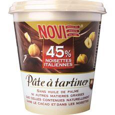 NOVI Pâte à tartiner sans huile de palme 45% noisettes italiennes 200g