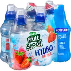 TEISSEIRE Fruit shoot hydro eau goût fraise bouteilles 6x20cl