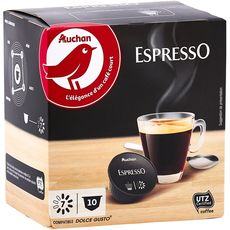 Nescafé AUCHAN Capsules de café espresso compatibles Dolce Gusto