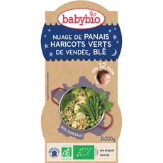 Babybio bol bonne nuit légumes verts blé 2x200g dès 12mois