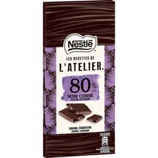 Nestlé recette atelier noir corsé 80% -100g