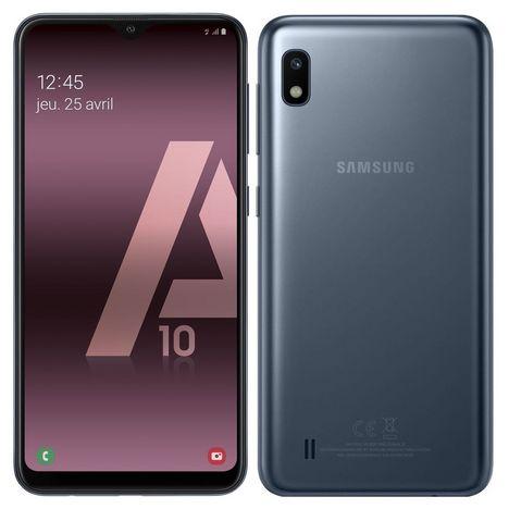 SAMSUNG Smartphone - GALAXY A10 - 32 Go - 6.2 pouces - Noir - 4G - Double port nano SIM