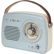 MADISON Radio portable analogique Vintage FREESOUND VR30 - Bleu/rose