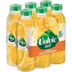 VOLVIC Boisson aromatisée juicy au jus fruits exotiques bouteilles 6x50cl