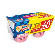 Lustucru box fusilli jambon fromage 2x360g dont 60% sur 2ème